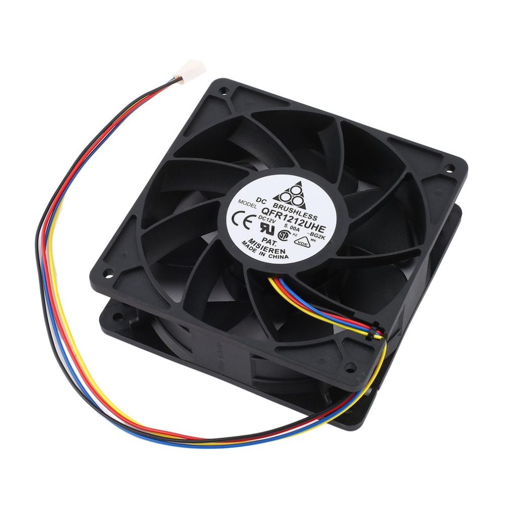 DC 12V 5.0A 7500RPM Miner Cooling Fan For Antminer Bitmain S7 S9 4-Pin Connector Brushless Replacement Cooler Low Noise 2018 new arrival 7000rpm cooling pc cpu cooler 120 mm fan replacement 4 pin connector for antminer bitmain s7 s9 video card diy