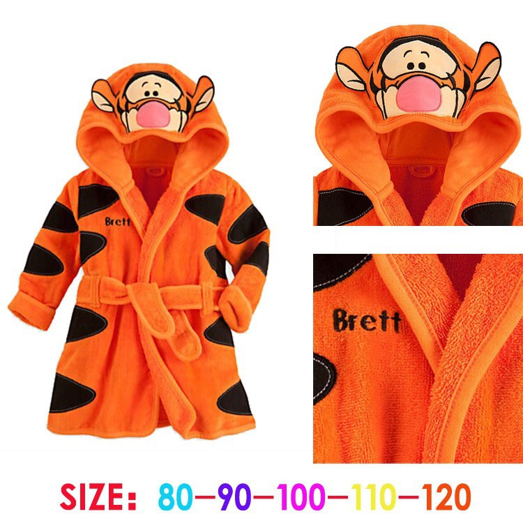 Retail 2015 new Children Pajamas Robe Kids clothes boys girls Micky Minnie Bathrobes Baby Cartoon Home Wear baby clothing