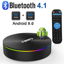 T95Q 4GB 32GB Android 9.0 TV BOX 4K Media Player DDR3 Amlogic S905X2 Quad Core 2.4G&5GHz Dual Wifi BT4.1 100M H.265 Smart TV Box подвесная люстра lucia tucci barletta 122 8 coffe gold