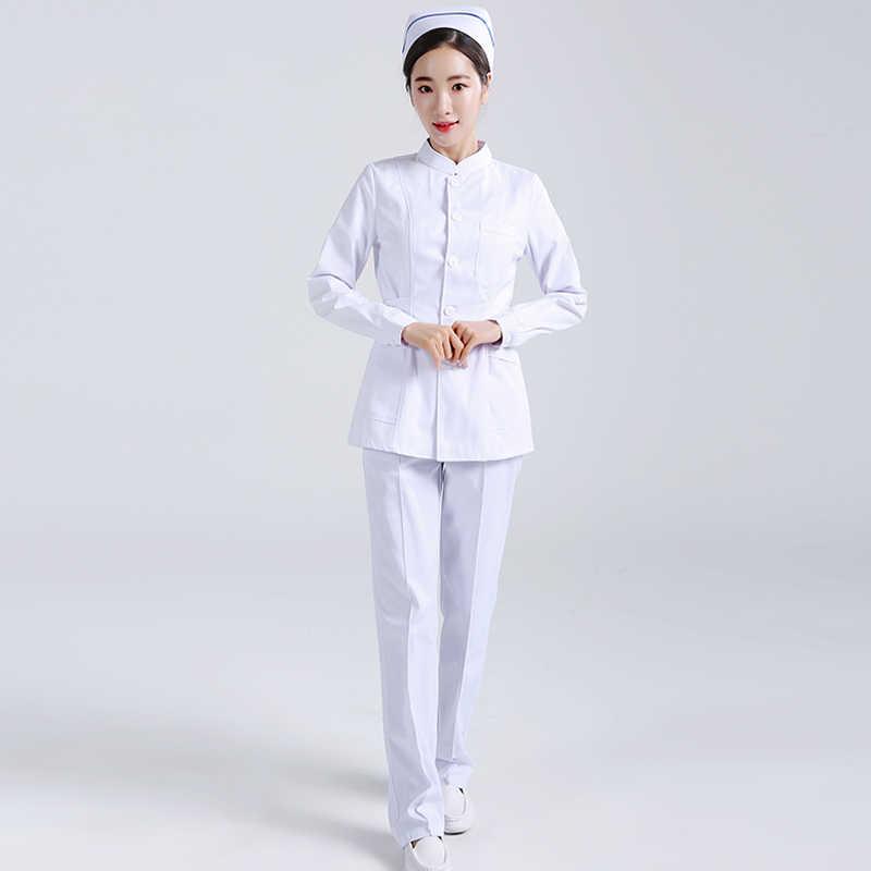 39260be8a Mulheres Ternos Esfrega Uniformes De Enfermagem Roupas Enfermeira Médica  Cirúrgica do Hospital Salão de Beleza Feminino