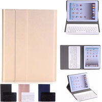 Wireless Bluetooth Keyboard Case For IPad 2 IPad 3 IPad 4 Removable Folio Case Stand Leather