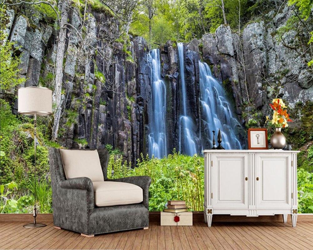 Waterfalls Crag Cliff Rock 3d nature ...