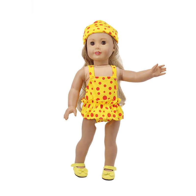 ZWSISU แฟชั่น 12 Pcs ตุ๊กตาชุดว่ายน้ำแว่นตากันแดด Fit ตุ๊กตาอเมริกัน 18 นิ้ว & ตุ๊กตาเด็ก 43 ซม.อุปกรณ์เสริมสำหรับรุ่นของเล่นเด็กผู้หญิง