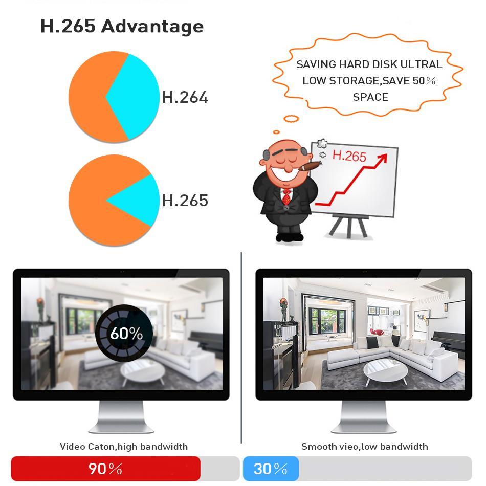 Hiseeu H.265 H.264 4/8CH POE NVR Security IP Camera video Surveillance CCTV System P2P ONVIF 2MP/5MP Network Video Recorder - 2