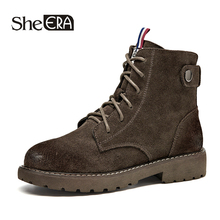New Fashion Retro Women Boots Genuine Leather Women Ankle Boots Black/Coffee Casual Lady Shoes Spring/Autumn Female Shoes