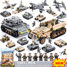 8 IN 2 1061Pcs Army Tank Blocks Compatible LegoINGly Empires of Steel Technic Building Blocks Military Vehicle Car Toys Bricks(China)