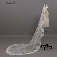 2018 Bridal Long Lace Flying Veil Wedding Veils 3 M*1.6M Meter Accessories Voile Mariage Mantilla Muslim Vail Velos De Novia