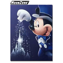 New 5D DIY Diamond Magic Mickey Minnie and Donald Duck Pattern Crystal Diamond Resin Full Square Mosaic Cross stitch craft Gift(China)