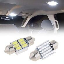 цена на 2pcs/lot  Led Dome light 12V 5630 6 SMD White Festoon Car Auto Interior Door Light Bulb 12V Reading Light Map Lamp 31mm
