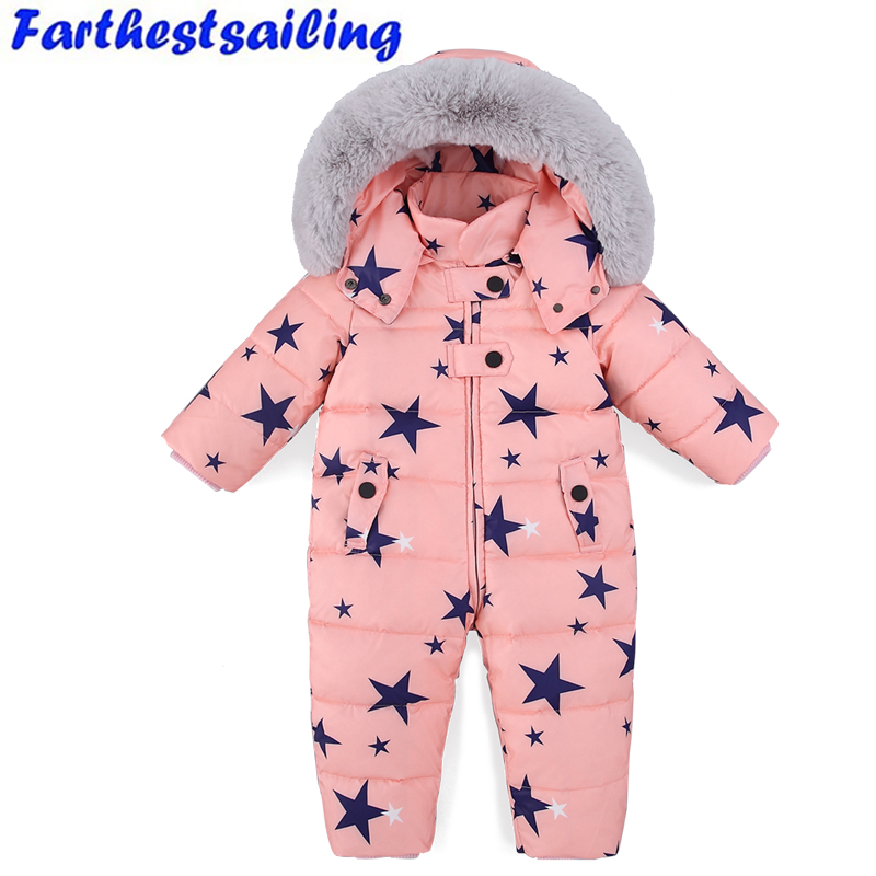 2fd584b3a Detail Feedback Questions about 11.11 New Duck Down Snowsuit Girls ...