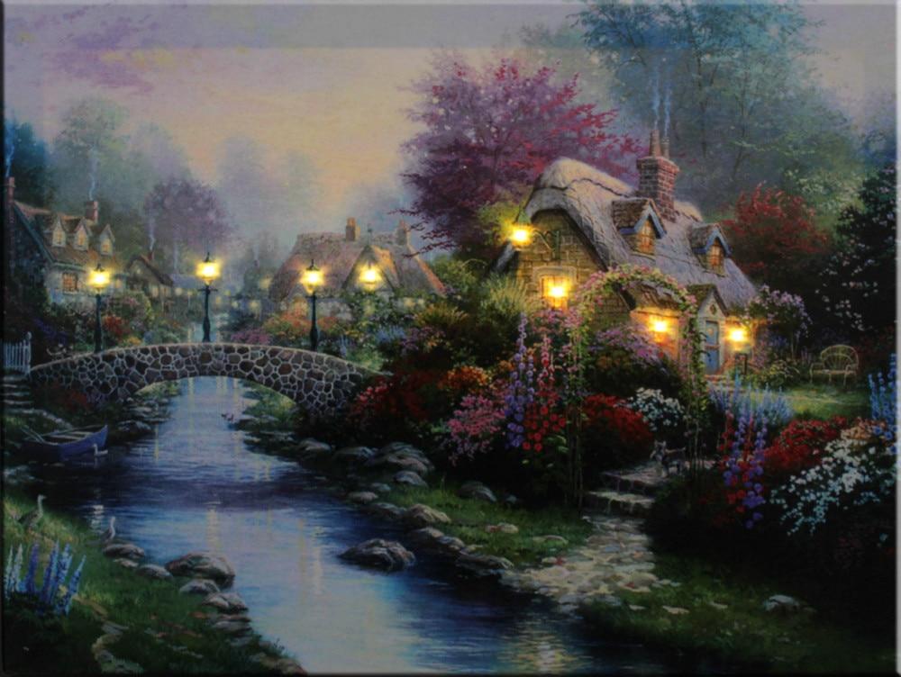 8 stks led verlichting gratis verzending wall art met leds voor canvas schilderij home decor gespannen en ingelijst print art samen in 8 stks