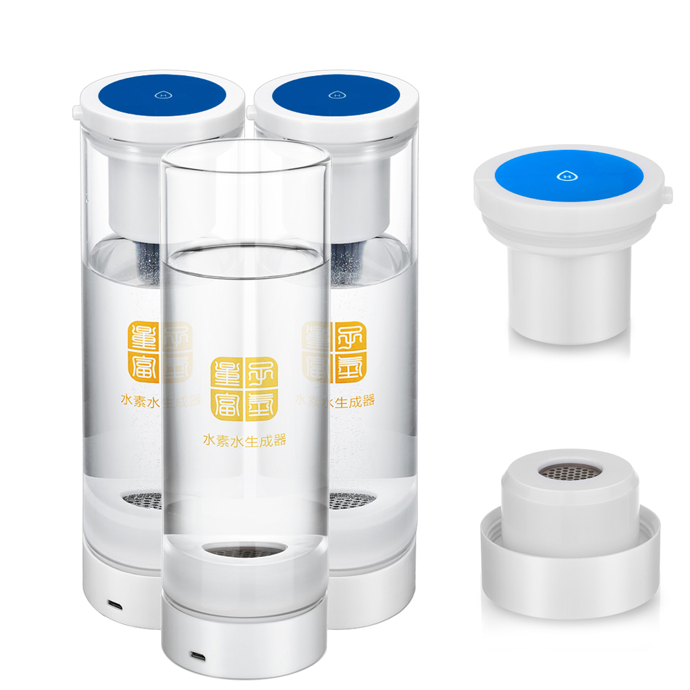 IHOOOH manufacturer Hydrogen water generator glass cup Anti-Aging Helping treat chronic diseases Wireless transmission