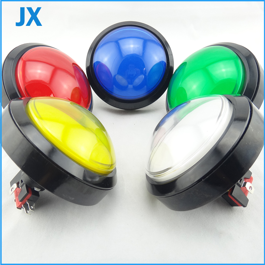 2PCS 100mm Push Button Arcade Button Led Micro Switch Momentary Illuminated 12v Power Button Switch