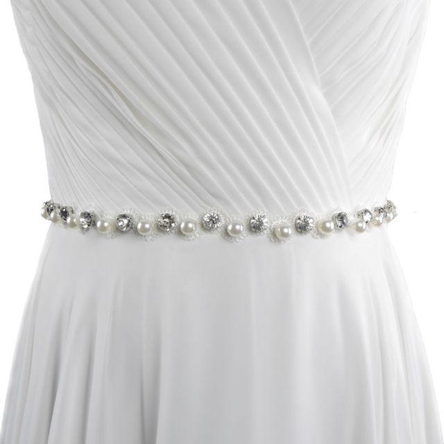 TOPQUEEN S71 Free shipping Wedding Belt Crystal Rhinestone Bridal Sash Wedding Dress Accessories