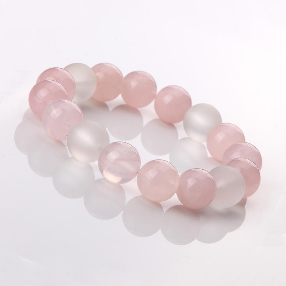 Titanium cristal naturel - femmes blanc naturel cristal rose bracelet en cristal dr. Peach 4