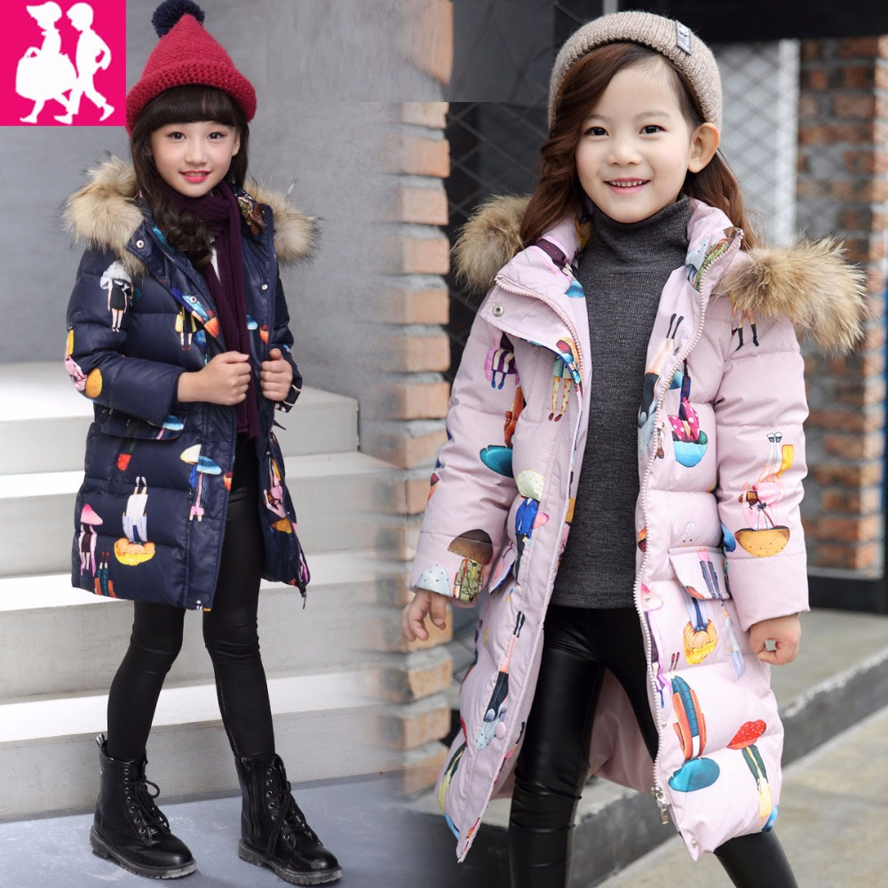 Fashion Children Down Jacket Russia Winter Jacket For Girls Thick Duck Down Kids Outerwears Cold -30 degree Jacket Warm Coat russia winter boys girls down jacket boy girl warm thick duck down