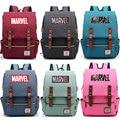 Рюкзак для мальчиков и девочек с многоцветным буквенным принтом Marvel  «мстители»  школьная сумка для подростков  Женский парусиновый рюкзак ...