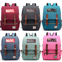 2019 New Multicolor Letter Marvel The Avengers Boy Girl Student Blet School bag Teenagers Canvas Women Bagpack Men Backpack