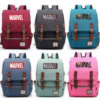 2019 nouvelle lettre multicolore Marvel les Avengers garçon fille étudiant Blet sac d'école adolescents toile femmes sac à dos hommes sac à dos