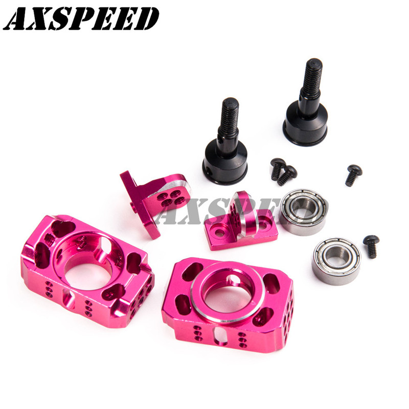 Aluminum Adjustable Steering cup assembly Suspension Knuckle Kit For RC Sakura D4 AWD RWDAluminum Adjustable Steering cup assembly Suspension Knuckle Kit For RC Sakura D4 AWD RWD