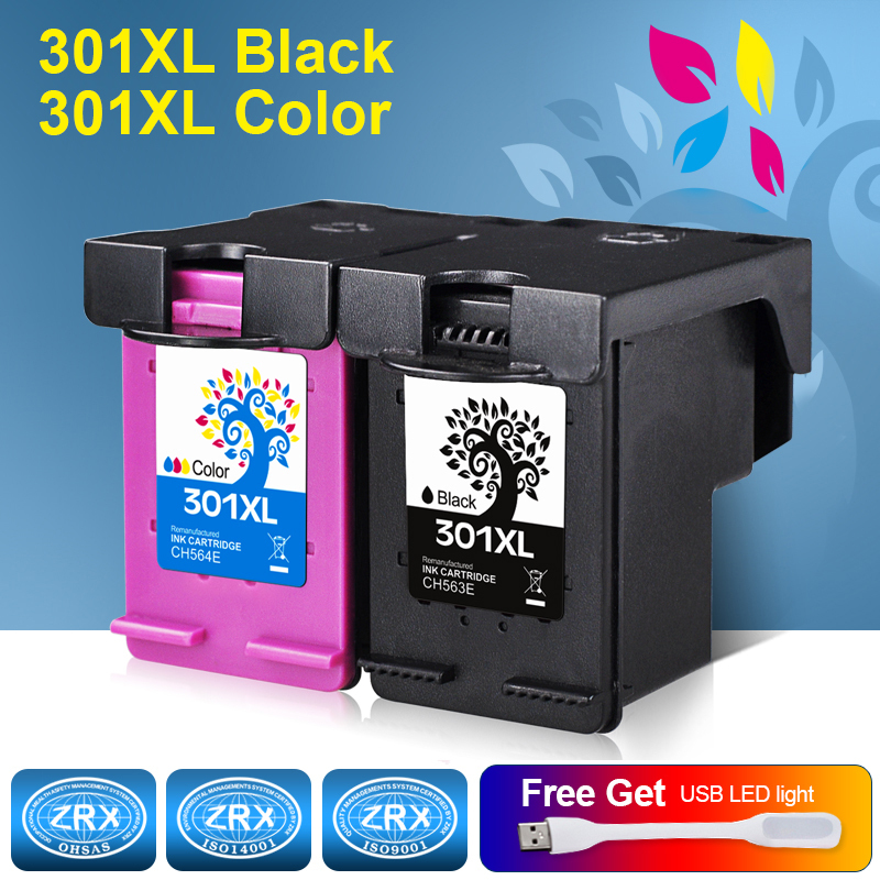 все цены на 2pcs Ink Cartridge for HP 301XL HP301XL CH563EE CH564EE for HP Deskjet 1000 1050 2000 2050 2510 3000 3050 3540 1010 1510 2540 онлайн