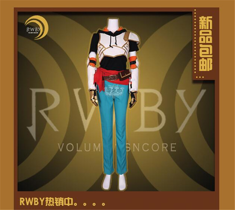 Amine RWBY Season Four Jaune Arc Cosplay Costume Woman Man Suits Hot Sale Custom Made Clothing