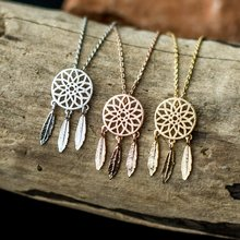 Bohemian Necklace For Women Vintage Jewelry Stainless Steel Dreamcatcher Necklaces Pendants	Bridesmaid Gifts Collier Femme Bff vintage hourglass necklaces men stainless steel unisex necklaces pendants for women necklace jewelry wholesale