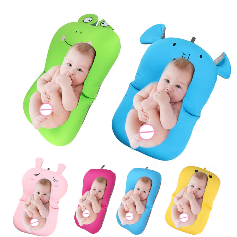 Baby bath tub Newborn Baby Foldable Baby bath tub pad & chair & shelf newborn bathtub seat infant  support Cushion mat bath mat