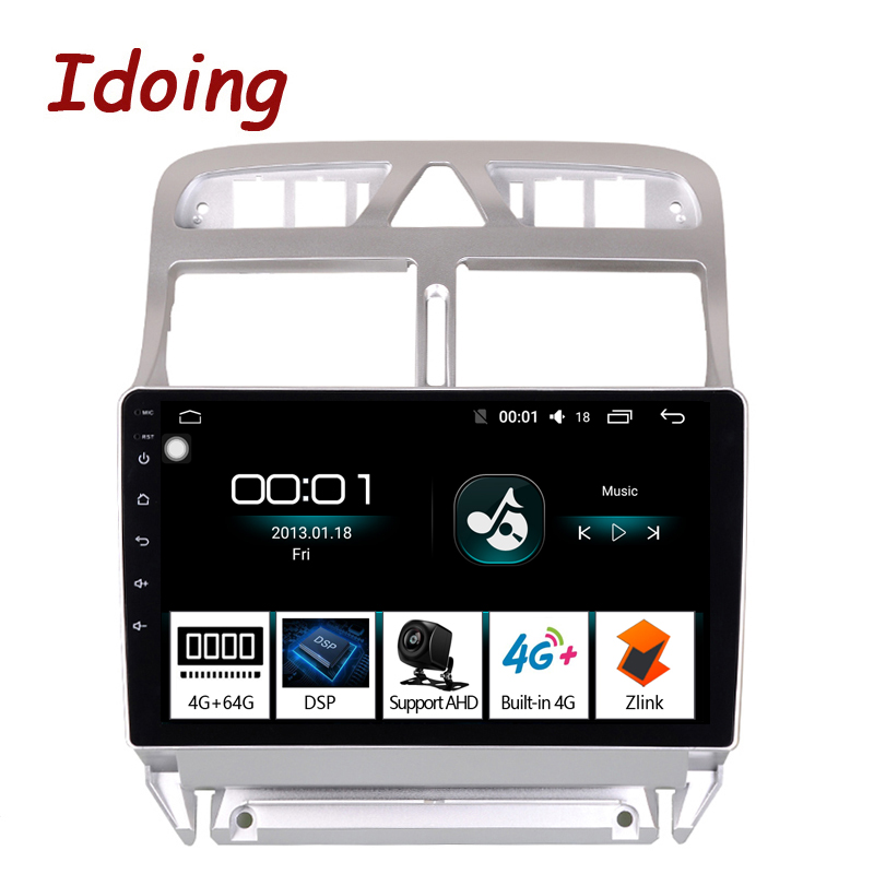 Idoing 94G+64G 2.5D Octa Core Car Android 8.1 Radio Multimedia Player For Peugeot 307 307CC 307SW 2002-2013 DSP GPS Navigation