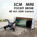 Мини Drone FPV Видео в Реальном Времени Quadcopte Игрушка RC Дрон С 2-МЕГАПИКСЕЛЬНАЯ HD Wi-Fi 200 Вт Камеры 2.4 Г 4CH Вертолет Набор Высокий С контроллер