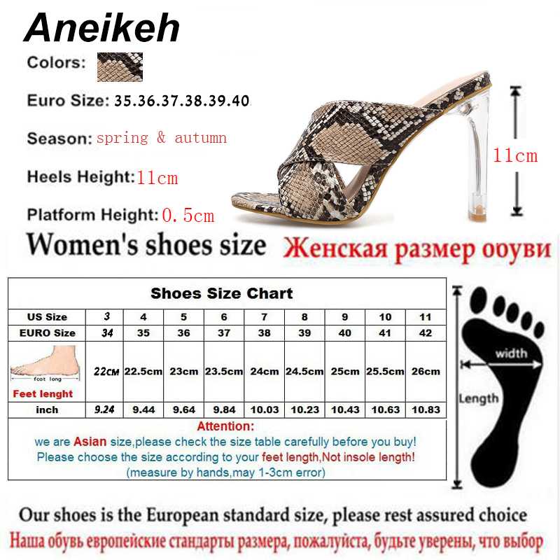 da59e8a0846 Aliexpress.com: Comprar Aneikeh zapatos de verano talla grande 41 42  Stiletto zapatos de tacón alto sandalias de Mujer Zapatos de Punta abierta  zapatos de ...