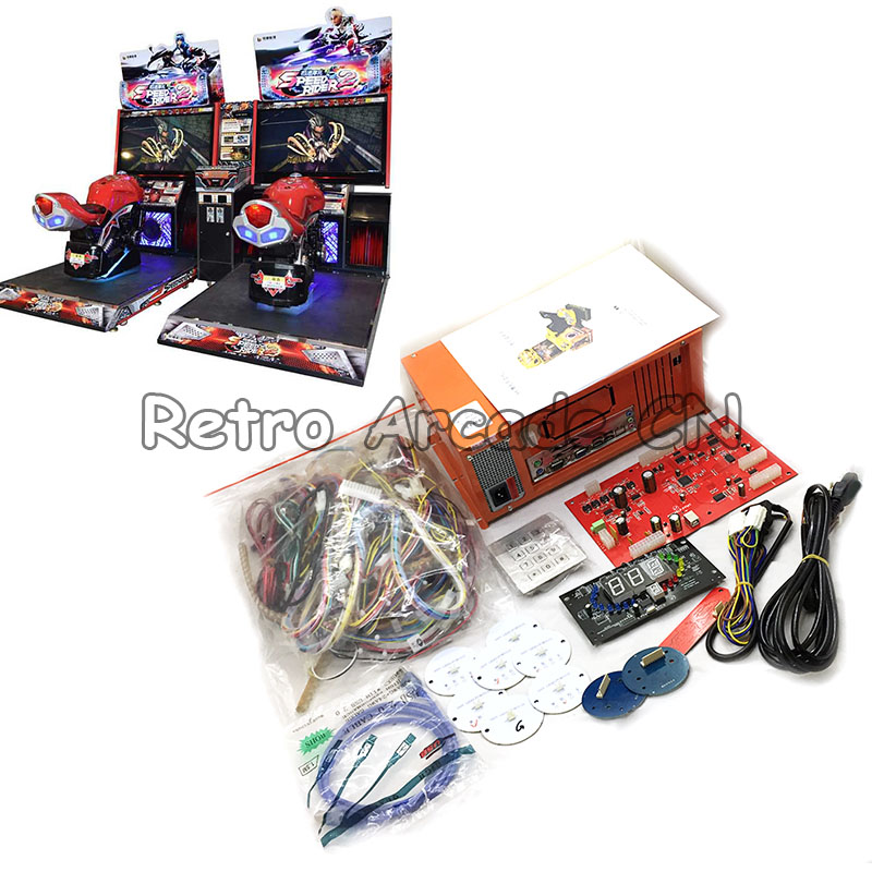 FF Motor Super Bikes 2 kit Car Racing Game PCB PC motherboard Game Set for Coin Operator Arcade Racing Game Amusement Machine image