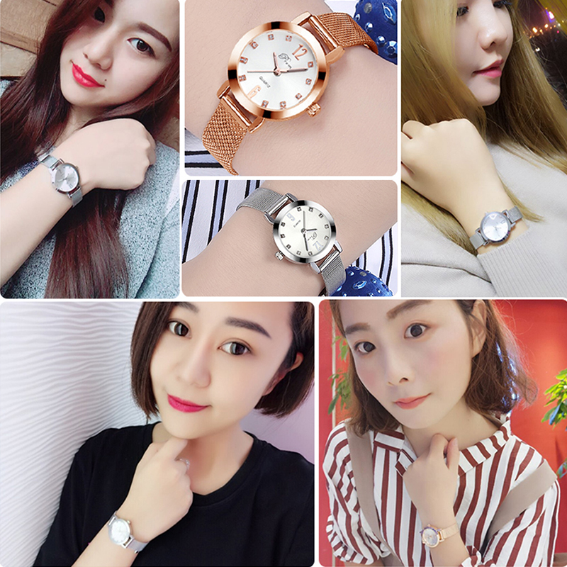 2020 Ladies Wrist Watches Women Wristwatch Silver Brand Luxury Quartz Female Clock Rose Gold Stainless Steel