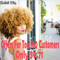 Blonde Afro Curly Wig Short Synthetic Wigs For Black Women Short Curly Blonde Wig Cheap Afro Kinky Curly Hair Wigs Cosplay