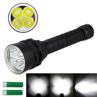 5L2 LED Diving Flashlight 50W glare lights Magnetic control underwater 50m dive light 18650 Torch waterproof outdoor lamp 3800LM