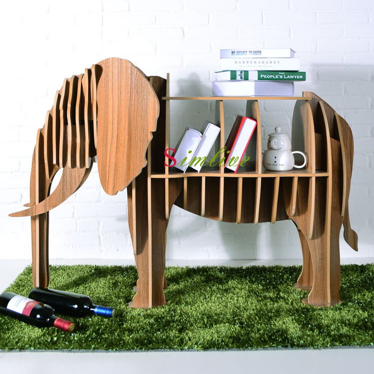 Aliexpress.com : Buy Wood Elephant Table For Living Room Decor,diy Animal  Furniture,animal Bookshelf,lucky Elephant Puzzle Table Home Deocration From  ...