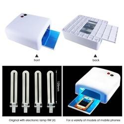 Narzędzie do naprawy telefonu komórkowego 36 W klej UV zielony olejek szybkie utwardzanie lampy ultrafioletowe fioletowe światło do paznokci ekran telefonu płytka drukowana suszarka do w Zestawy narzędzi ręcznych od Narzędzia na