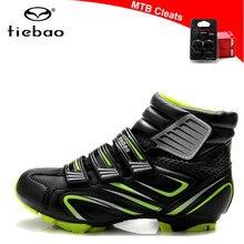 Tiebao велосипедная обувь Sapatilha Ciclismo MTB для женщин, кроссовки для мужчин, зимняя велосипедная обувь с самоблокирующимся верхом, велосипедные ботинки