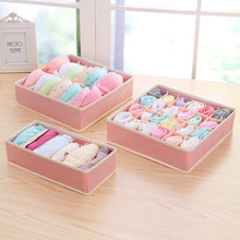 3pcs / set Multifunctional Clothes Socks Ties Underwear Storage Boxes Organizer Container Home Tiny Things Fabric Storage Box