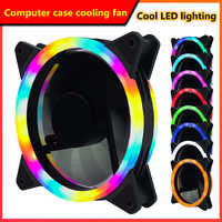 120mm PC computer case cooling fan with LED light 12cm CPU graphics memory cooler 3p 4pin wire silent fan