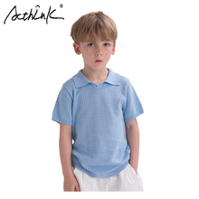 ActhInK New Arrival 3 Colors Boys Summer Solid t-Shirt Kids Breathable T-shirt For Quick Dry Children