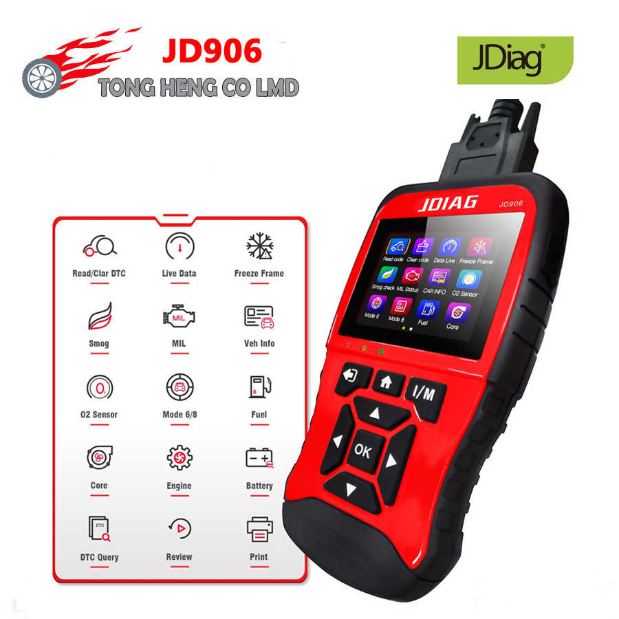 Originele Jdiag JD906 Auto Professionele Code Reader Car Diagnostic Tool OBD2 Scanner Automotive Diagnose Obd 2