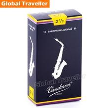 Vandoren SR2125-2135 Traditional Beginner Eb Alto Sax Reeds Classical Alto Sax Reeds Strength 2.5/3/3.5 1pcs/10pcs for Saxophone