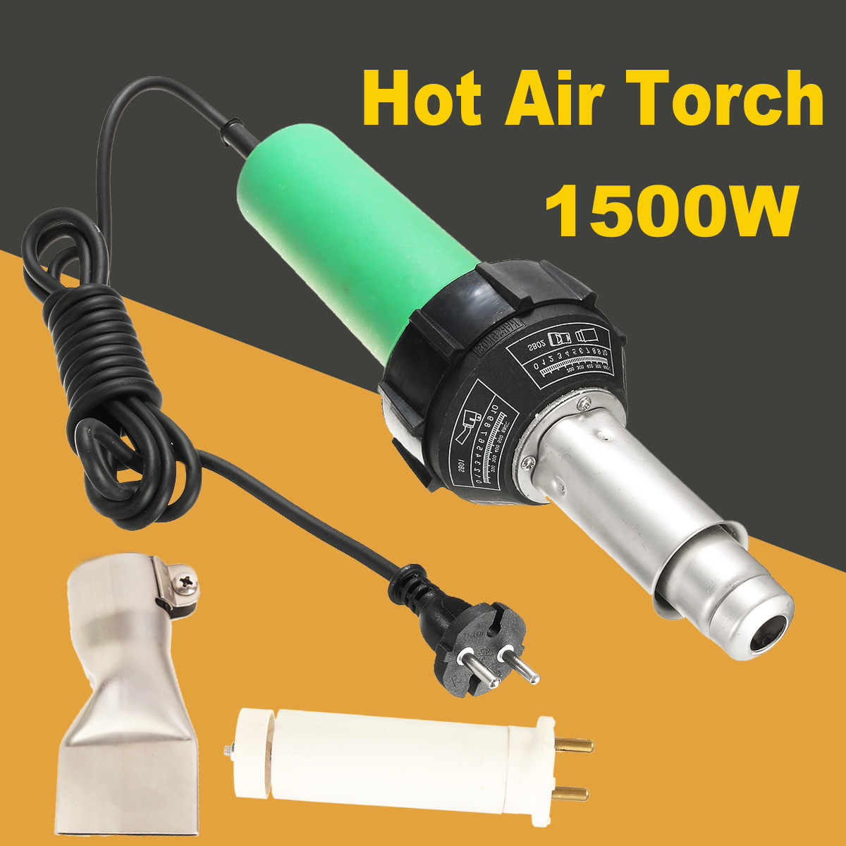 220V 1600W Welding Pistol & 2pcs Speed Nozzle & Roll Hot Air Torch Plastic Welding Heat Welding220V 1600W Welding Pistol & 2pcs Speed Nozzle & Roll Hot Air Torch Plastic Welding Heat Welding