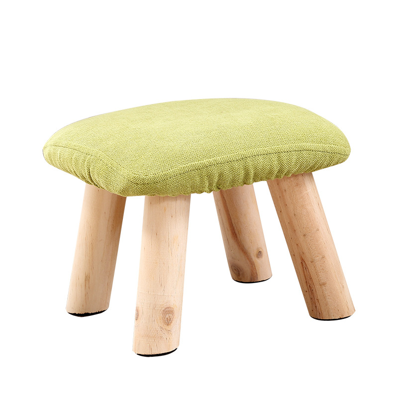 Solid Wood Change Shoe Bench Household Living Room Low Stool Portable Sofa Stool Creative Square Seat Wooden Stable Kids Stool fashion creative bench household fruit stools solid wood sofa stool bedroom living room fabric stool home furniture
