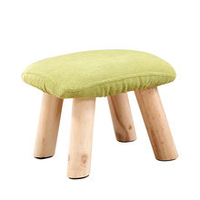 Solid Wood Change Shoe Bench Household Living Room Low Stool Portable Sofa Stool Creative Square Seat Wooden Stable Kids Stool(China)