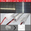 50sets 100cm SMD 4014 LED rigid Bar light 144 leds strip light 12V with Transparent Milky PC cover Free shipping