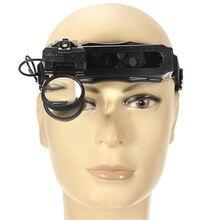 5/8/20X Lupa de Luz LED Lupa de casco 3 Lentes Para Lectura Lupa de Reparación de Relojes de Herramientas