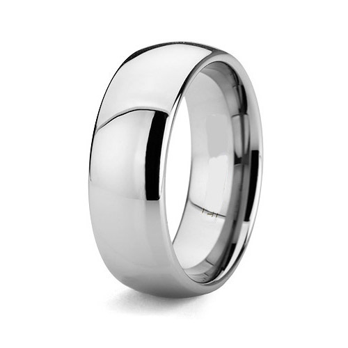 full size 5 - 15 Handmade Custom-Tailor High Polishing simple Plain 8mm titanium ring for men simple plain pillow 1pc