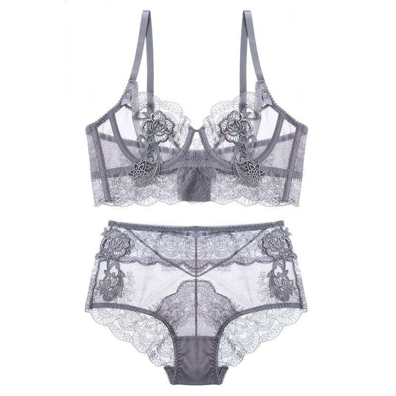New Sammeln Eingestellt Dünne Schale Dessous Bh Set Unterwäsche Transparente Versuchung Sexy Bh-Set Für Frauen